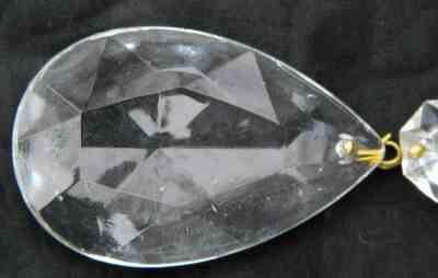 Prisms 20 Tear Drop Cut Glass Chandelier Lamp Bobeche